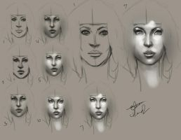 Step by Step - Painting a Face by Lonewolf898