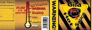 Gila Hot Sauce Label by Scratts