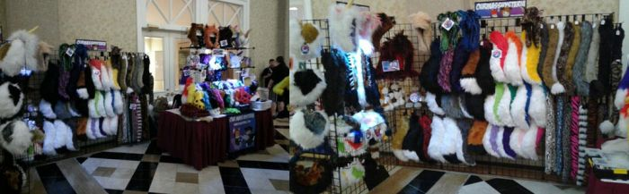 Our Booth at Texas Furry Fiesta 2017 by OurMassHysteria