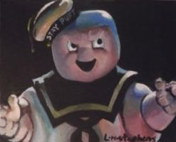 Stay Puft Marshmallow Man ACEO by sullen-skrewt