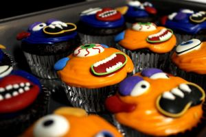 Monster Cupcakes by drumgirl67