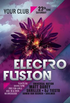 Electro Fusion Flyer Template by styleWish