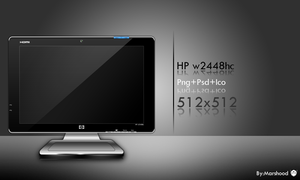 HP w2448hc monitor icon by MARSHOOD