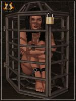 Selene caged by RazielKanos