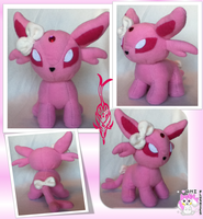 Custom Chibi Espeon Commission by Ami-Plushies