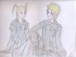 Demyx and Larxene by CosmicEternity