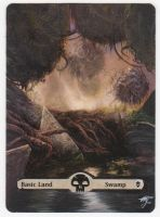 MTG Card Alter - Basic Land, Swamp (3) by InVenatrix