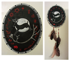 Echoes from the past (Shaman drum II) by Wolverica