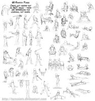 63 Random Poses by tazsaints