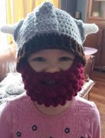 Child's Viking Helm by LaughingBadgerGifts