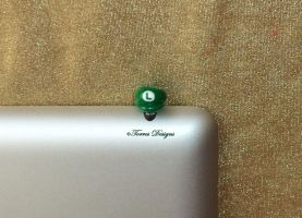 Luigi Hat Cap Dust Plug Charm Handmade Custom OOAK by TorresDesigns