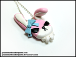 Bad Bunny Necklace by GrandmaThunderpants