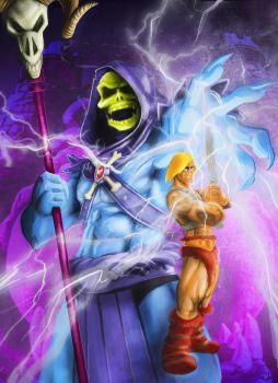 SERIE80-HEMAN Y SKELETOR by golemvb6