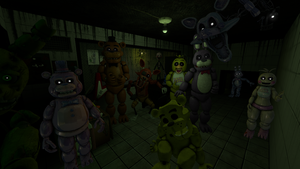 All Characters from Five Nights at Freddy's - SFM by DatOneShipper