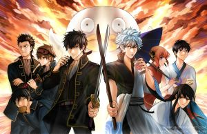 Gintama : Shinsengumi vs Yorozuya by Shumijin
