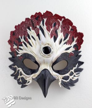 Game of Thrones Three-Eyed Raven Leather Mask #3 by b3designsllc