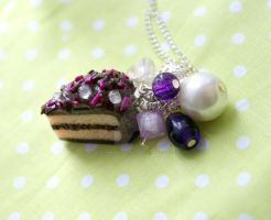 New Purple choco necklace by kleonardillustration