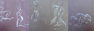 Life Drawing August 2014 by Gizmoatwork
