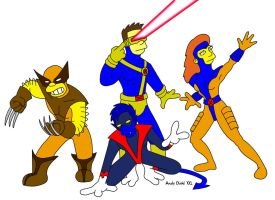 Simpsons Style X-Men by andydiehl