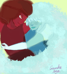Ruby and Sapphire by CanidaPeriap