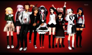 All The Danganronpa MMD Models I Have So Far! by Animeguy1234
