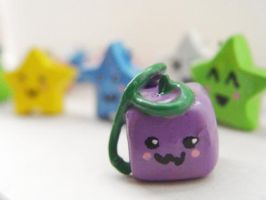 mr square eggplant by mailart-org