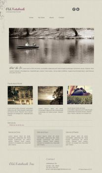 Old Notebook - Free HTML Template by Bellie