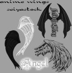 Anime Wing Image Pack by seiyastock