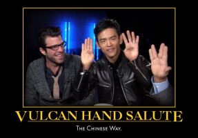 Sulu And The Hand Salute by Werelover969