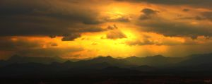 Sunset above Pyrenees by Kagerot