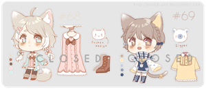 Adopt #68-69 [CLOSED] : Cream n Cocoa by Polka-Pot