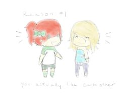 Reason 1: You Actually Like Each Other by italktotherain