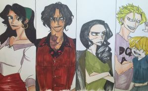 One Piece: The Descendants AU Characters 1 by nmaki98