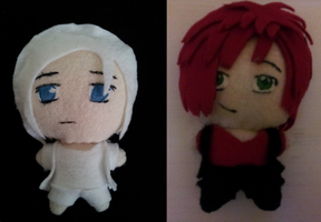 Lucas and Aiden Plushies by Moon-Potato