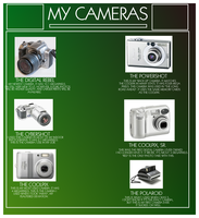 My Cameras by theleaveshaveeyes
