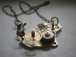 Abstract Clockwork Necklace by rowan300