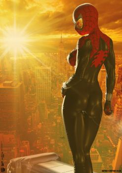 The Spectacular SPIDER-GIRL 'Sunset City' Series 3 by DevilishlyCreative