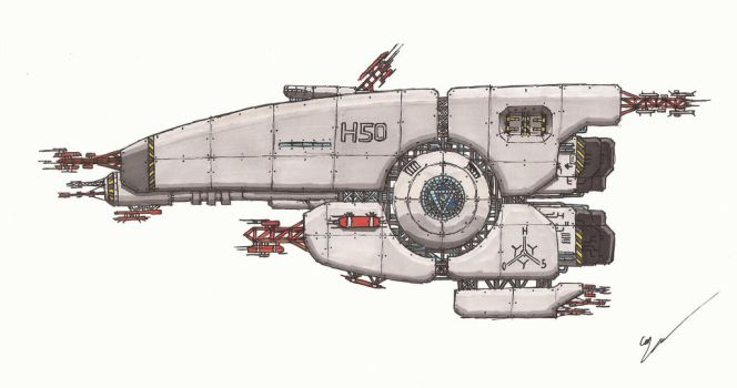 Some F*ckin Spaceship Thing by Leviathan-Corp