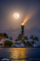 Full-Moon-Rise-Pompano-Beach-at-Lighthouse-Cove by CaptainKimo