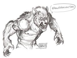#DrawAWerewolfDay by weremagnus