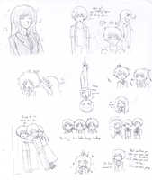 Silly sketches of everyone in LE by Uchiha-Souseiseki