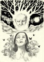 Ouranos and Gaia by oodell
