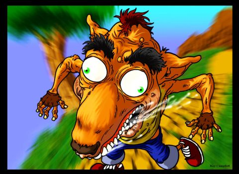 Crash Bandicoot on the run by Koy Campbell by NM8R-KJC