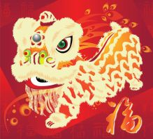 Lion dance by SeliciaL