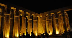 Temple of Luxor in Gold Light by AndySerrano
