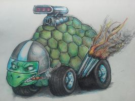Racing Turtle by butchRbill