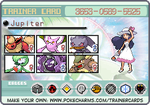 Pokemon Trainer Card by Flareon-Jupiter