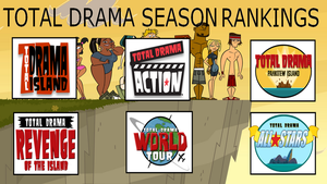 Top 6 Total Drama Seasons by TheDipDap1234