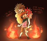 Starvation and flames by 13r-e