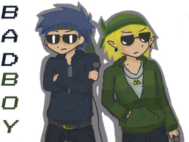 Ike and Link: Bad Boyz by doki-mocha